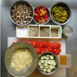 Pizza Vorbereitung